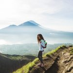 Haka Educational Tours student on Mt Batur in Bali