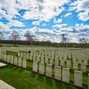 War memorial graveyard in Belgium
