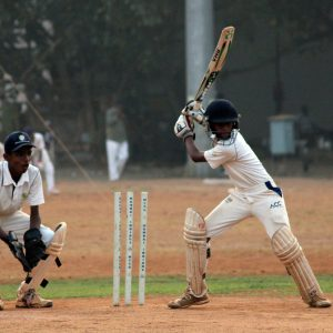 Boys playing Cricket in India