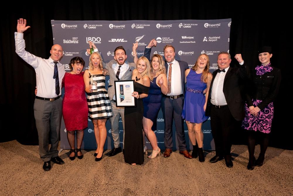 HET team photo at the NZ Export Awards 2018