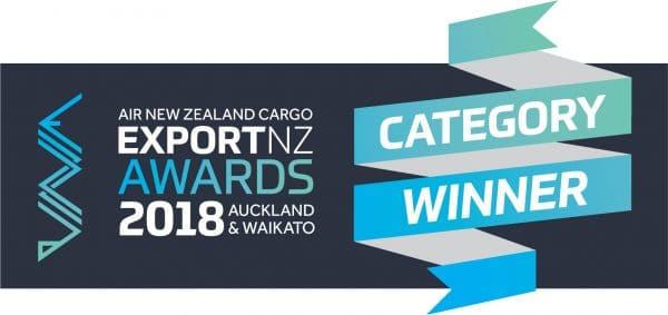 2018 Export NZ Awards winner stamp