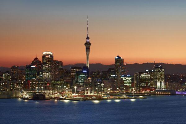 Auckland skyline by night