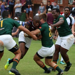 South African school rugby match at Kearsney Easter Rugby Festival