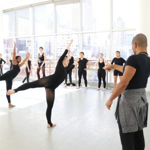 Dancers practicing at Alvin Ailey Dance Foundation