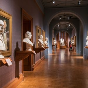 Row of busts at London Art Gallery