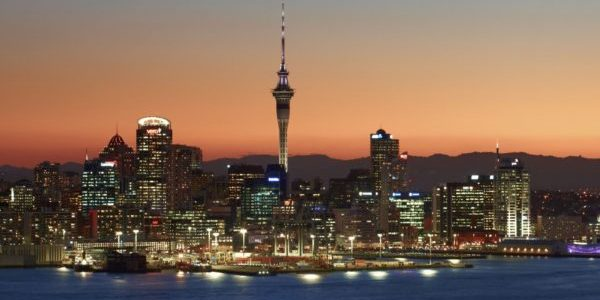 Auckland skyline by night