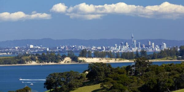 View of Auckland city from Waiheke Island