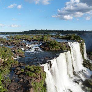 Aerial view of  Iguazu falls in Argentina